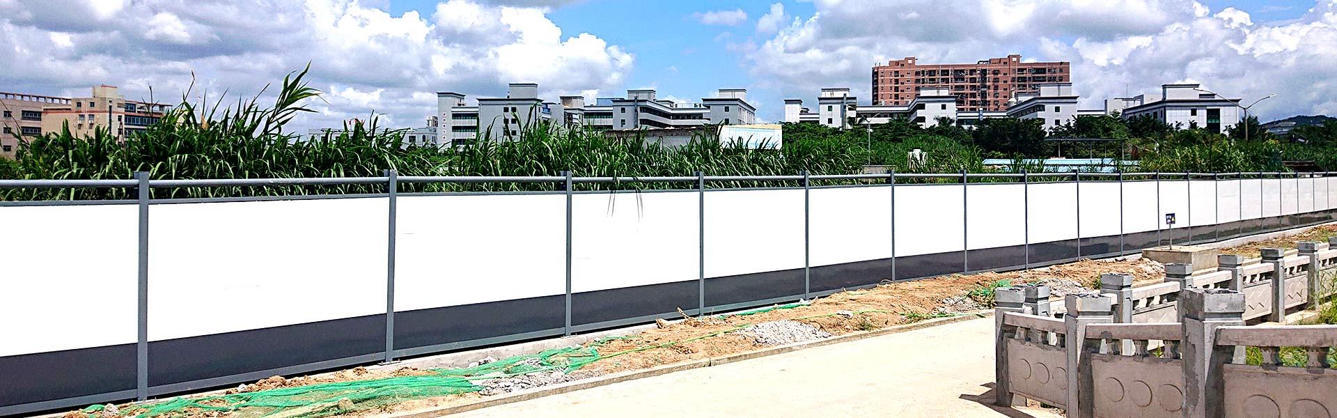 深圳简易工地施工围挡厂家,C类钢结构围挡。